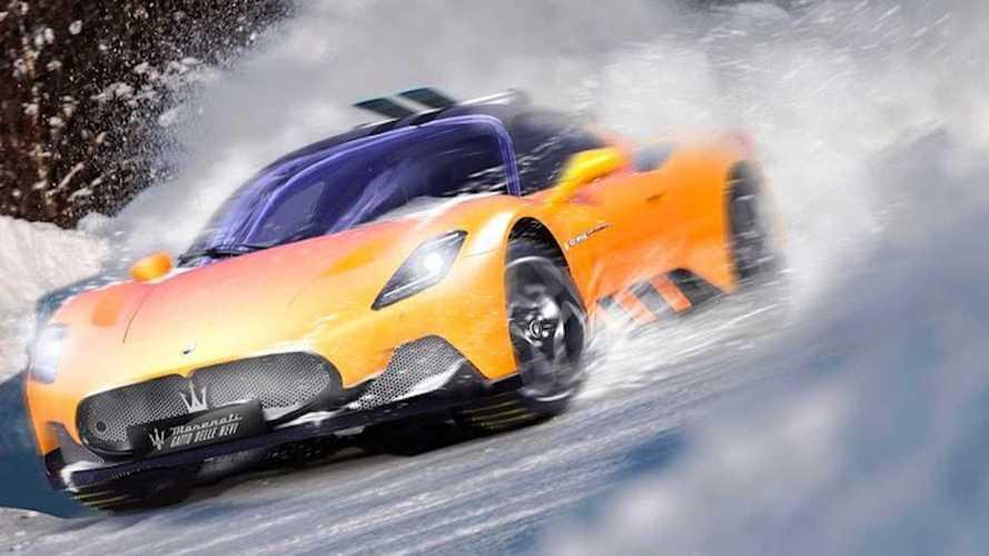 Maserati MC20 render'ları süper otomobili karlı zirvelere çıkartıyor
