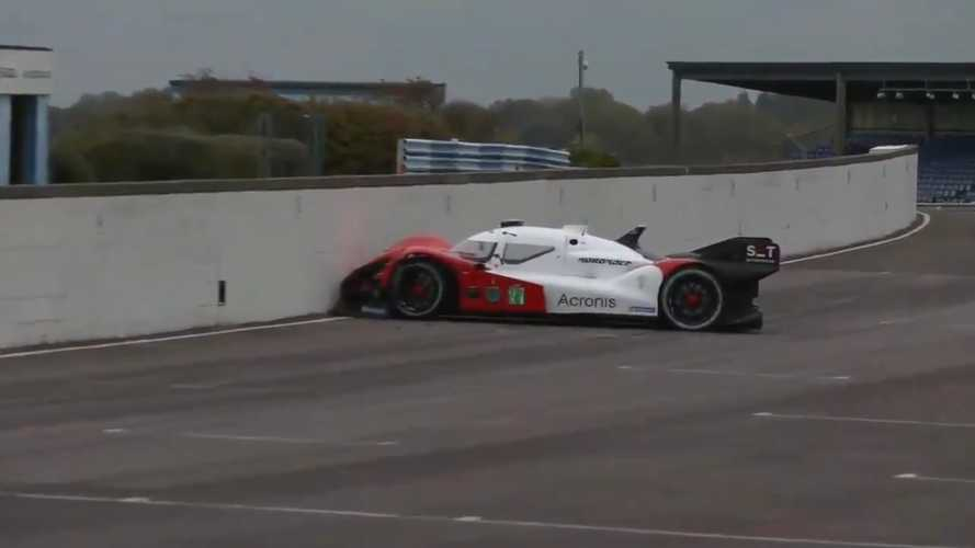 Watch Autonomous Race Car Do A Very Human Thing And Crash Into A Wall