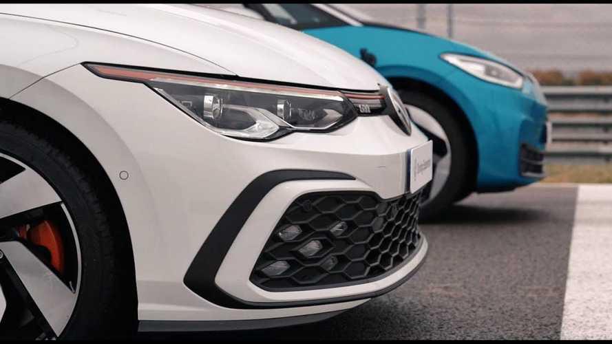 Watch Volkswagen ID.3 drag race VW Golf GTI