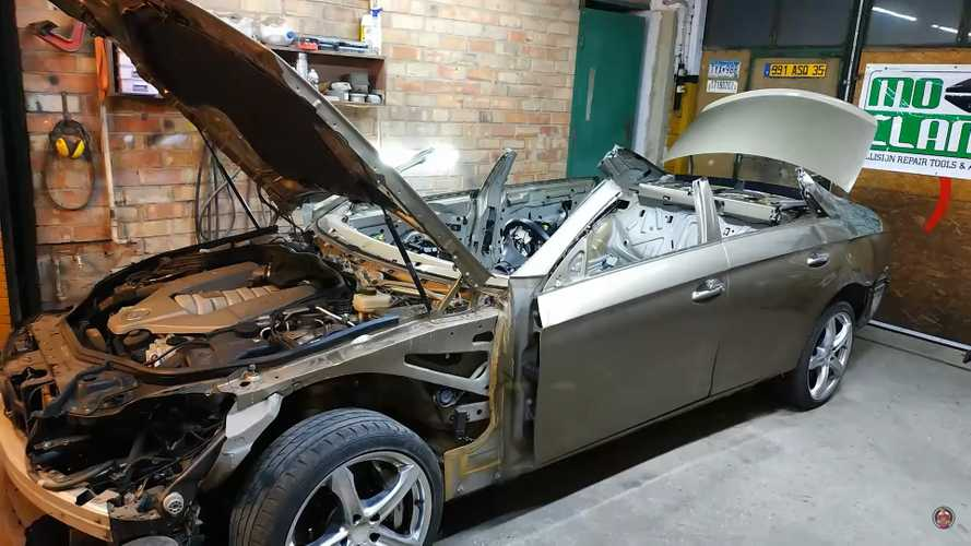 Roofless Mercedes CLS 63 AMG Gets New Lease Of Life After Massive Body Repair