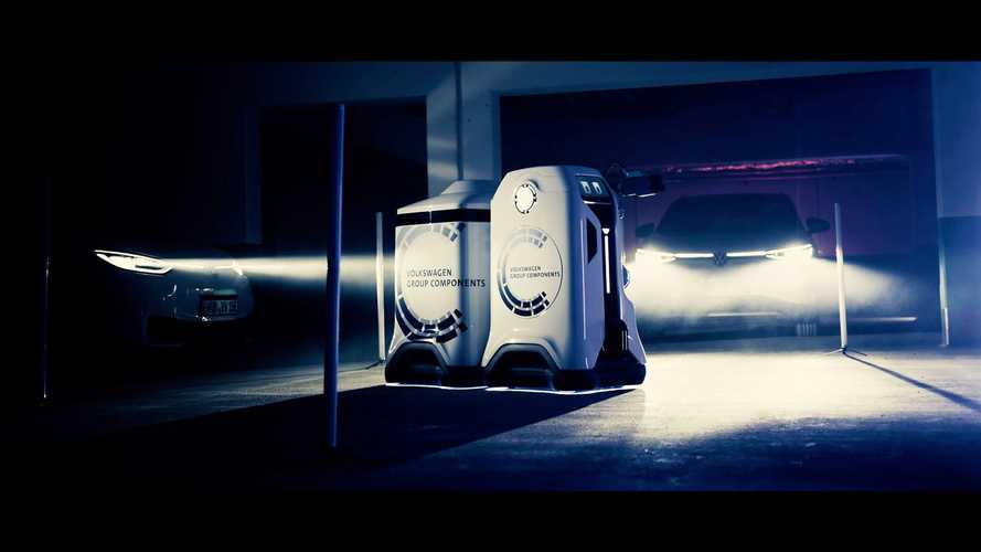 Volkswagen Teases Prototype Of Mobile Charging Robot