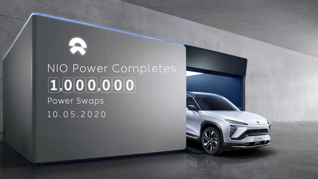 NIO Power Completes 1,000,000 Power Swaps