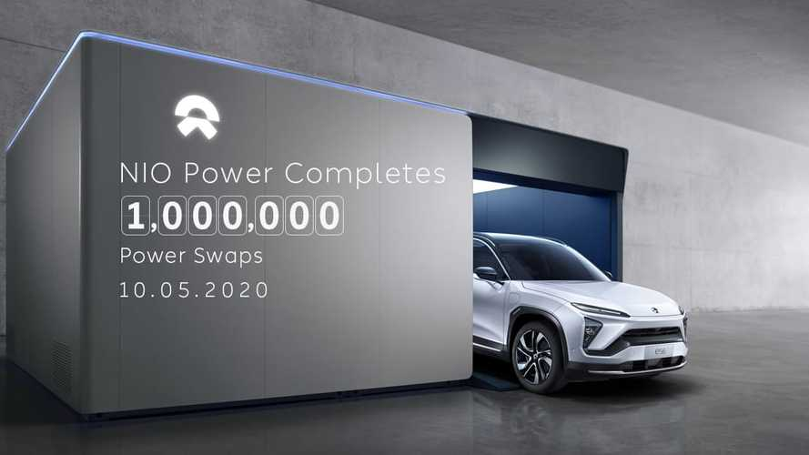 NIO Power Completes 1,000,000 Power Swaps