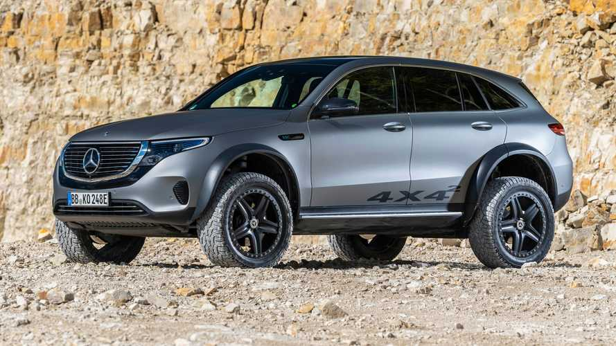 Mercedes EQC 4x4² stands tall with portal axles and chunky tyres