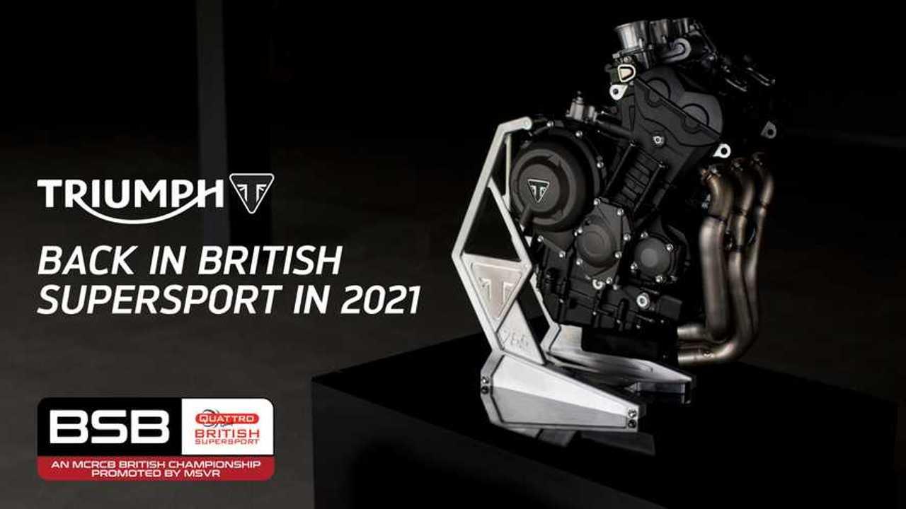 Triumph British Supersport Announcement 2021