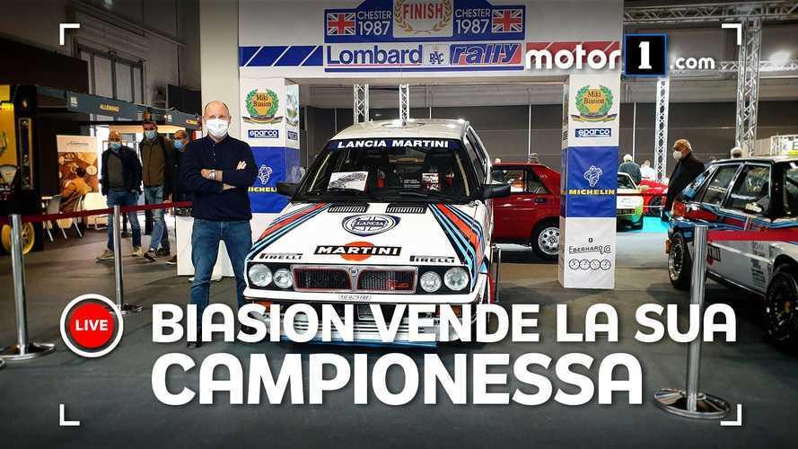 Miki Biasion vende la sua Lancia Delta Martini Racing
