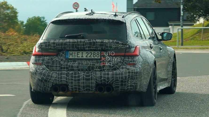 BMW M3 Touring chased from behind on the streets near the Nurburgring