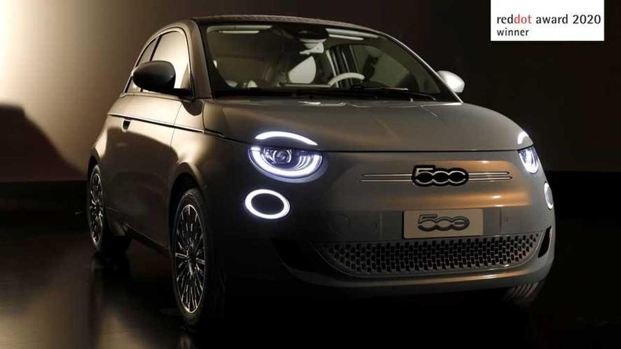 Fiat 500 eletrico premio design Red Dot