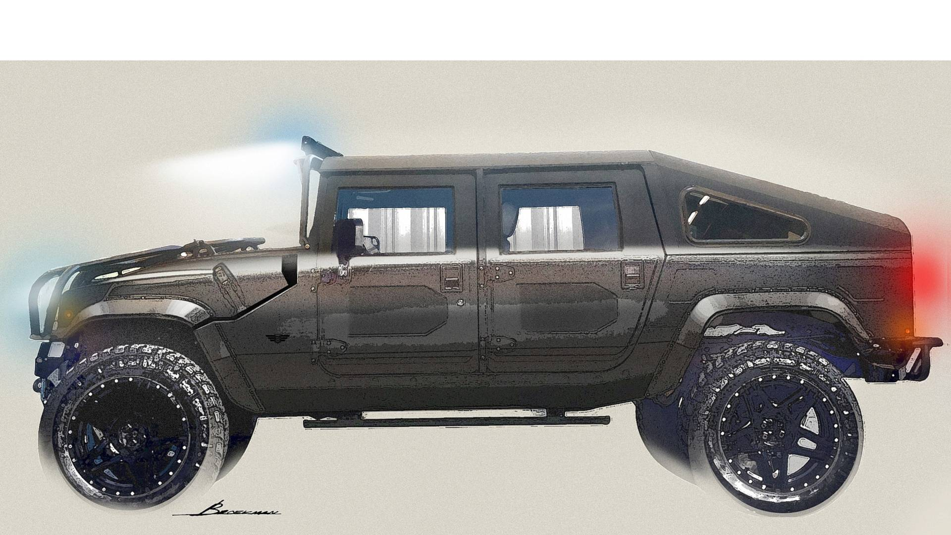 2019 Hummer H1 Price, Concept, Specs >> Mil Spec Releases Renderings Of Its Newest Hummer H1 Revival