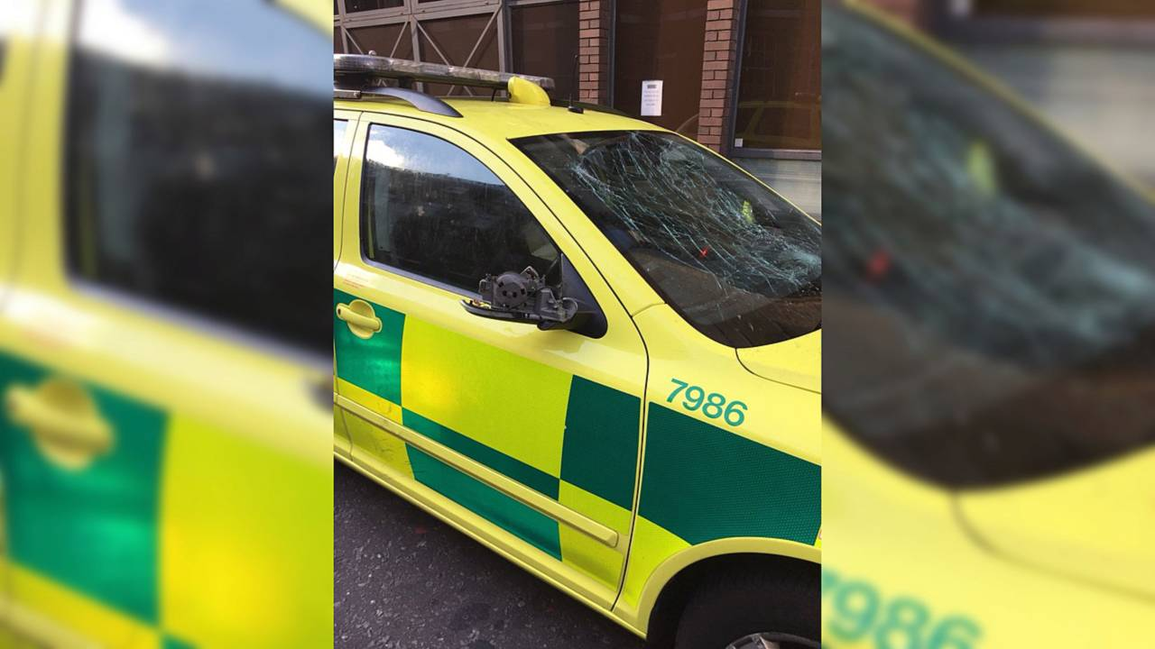 London Ambulance damaged in World Cup celebrations