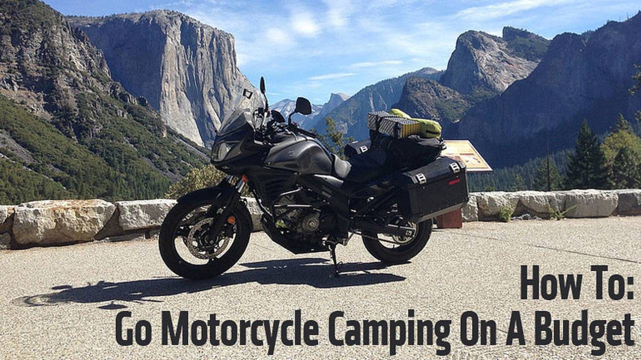 How To Go Motorcycle Camping On a Budget
