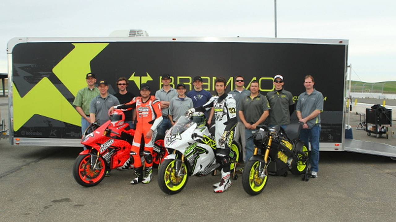 The 2013 Team ICON Brammo Race Bikes