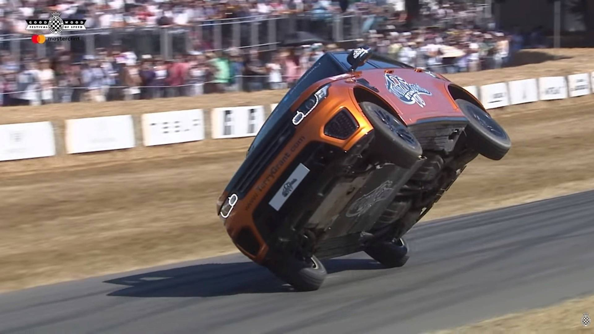 Watch Range Rover Sport SVR Complete Goodwood Run On Two Wheels