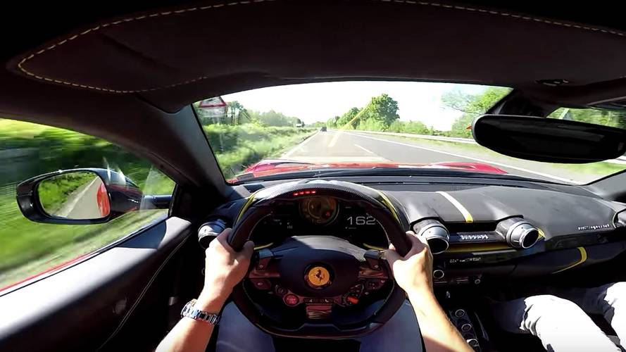 Ferrari 812 Is Super Fast On The Autobahn At Almost 200 MPH