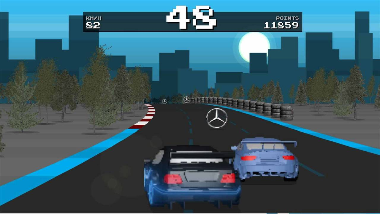 Mercedes Retro Game