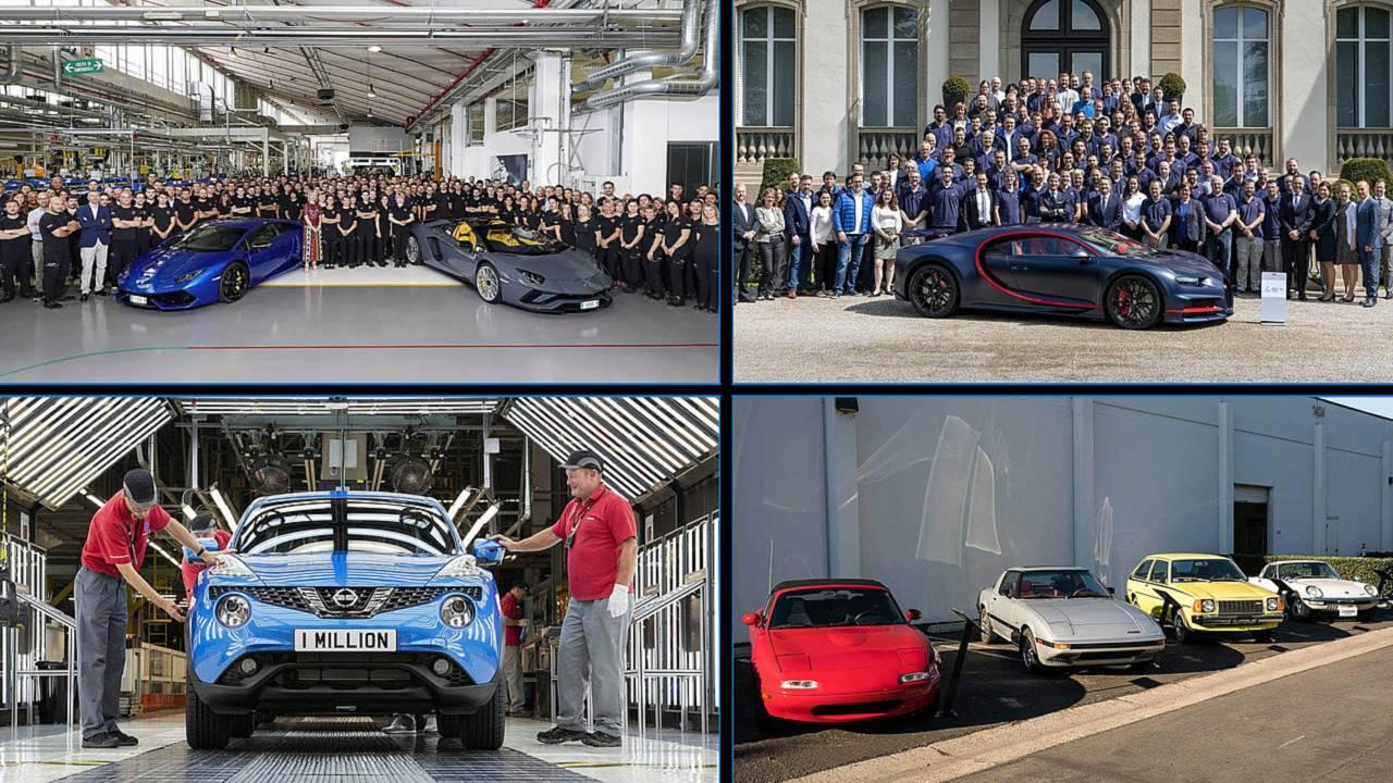Mosaico fabricación de coches