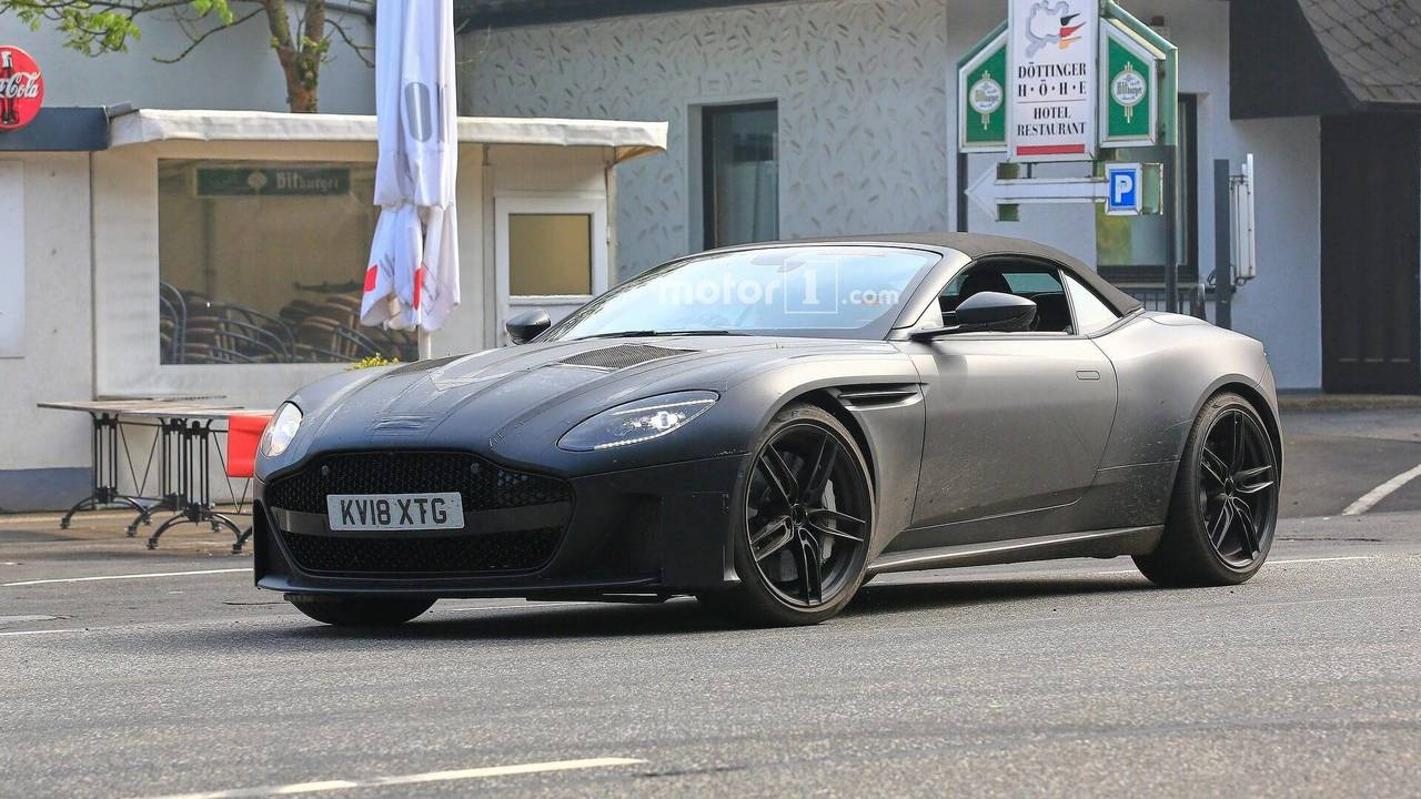 Aston Martin DBS Superleggera Volante spy photo