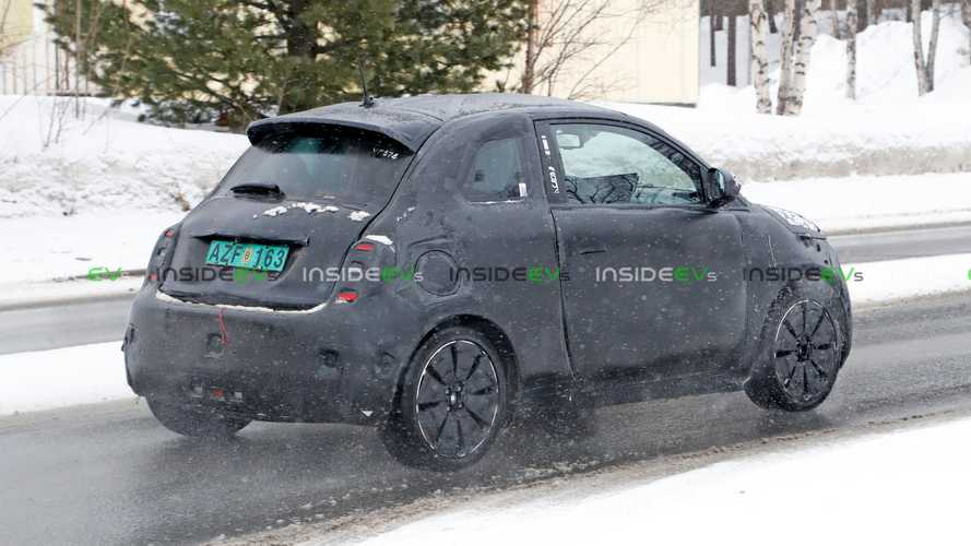 Fiat 500e Hatchback Breaks Cover Under Camo