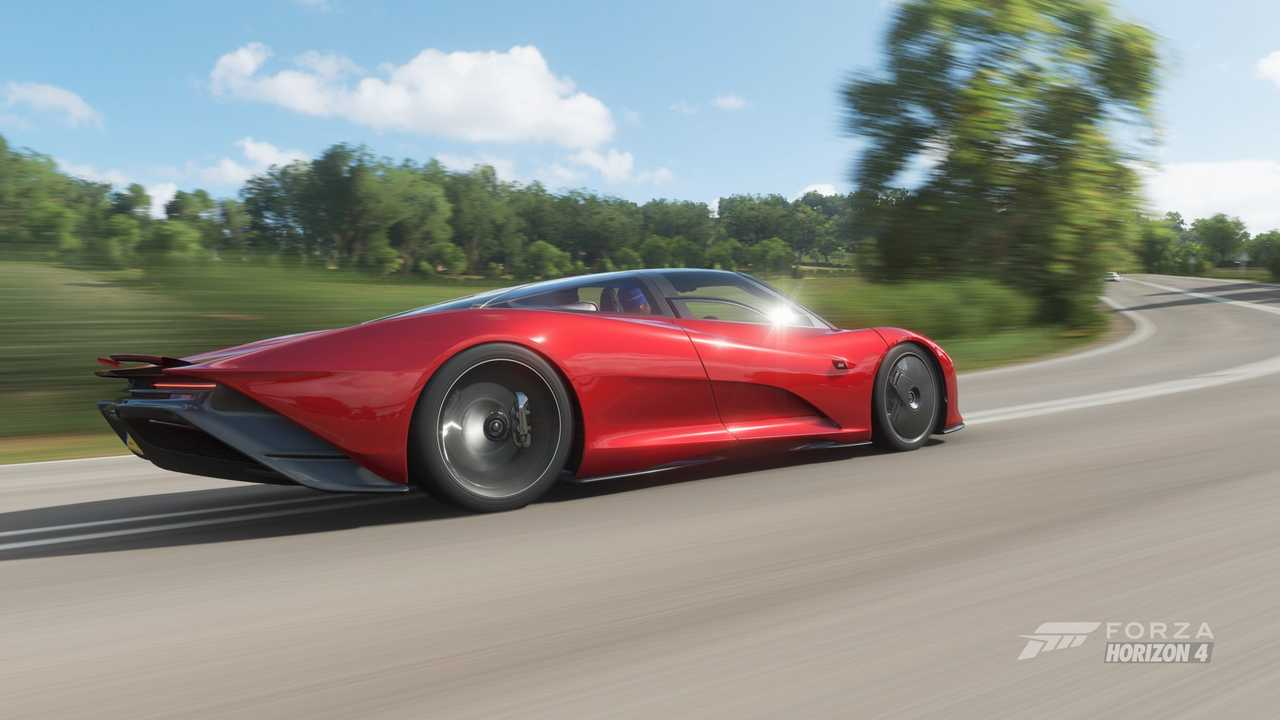 La McLaren Speedtail dans Forza Horizon 4