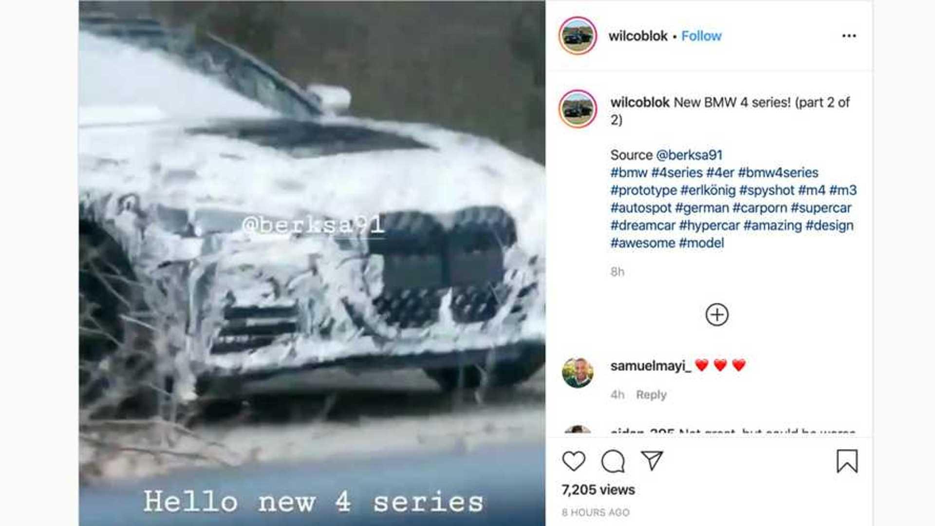 Neuer BMW 4er endlich mit dem großen Grill erwischt