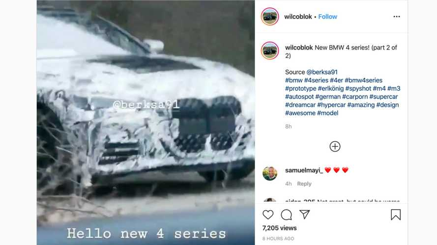 New BMW 4 Series spied with exposed front grille