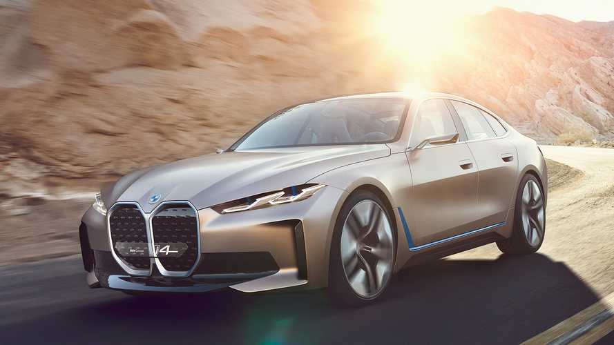 BMW i4 Concept EV debuts: Big grille, bigger power, 270-mile range
