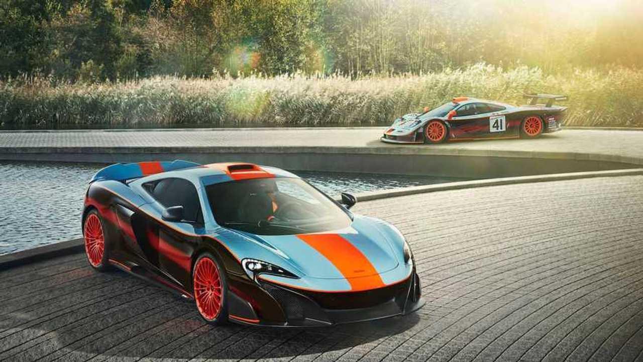 McLaren recreates Gulf Racing F1 GTR 'Longtail' livery for 675LT