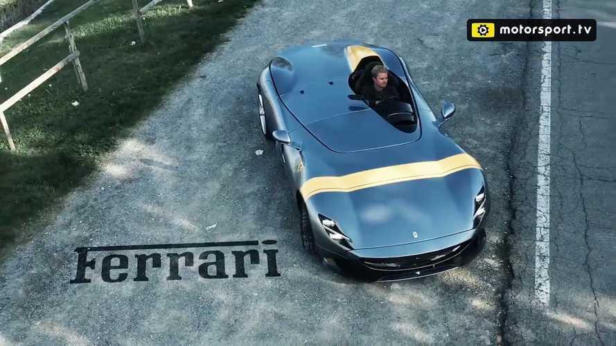 Nico Rosberg non resiste alla Ferrari: eccolo sulla Monza SP1