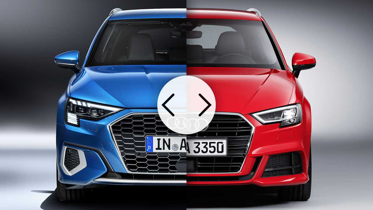Audi A3 Sportback, il confronto fra nuova e vecchia generazione