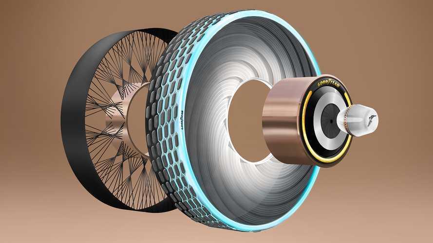 Goodyear, il concept dei pneumatici rigeneranti reCharge