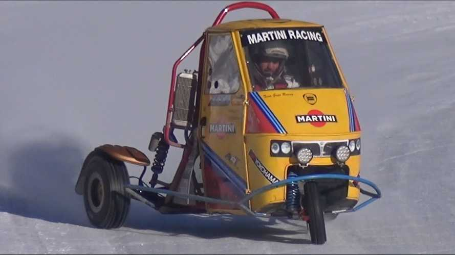 This Triumph-Powered Piaggio Ape Is Our Snow Day Dream Car