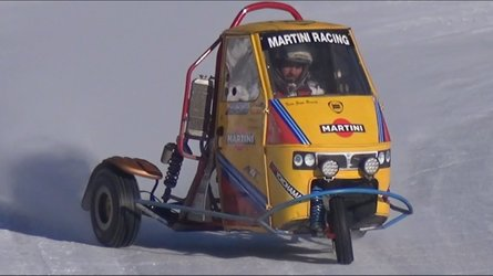 This Triumph-powered Piaggio Ape is our snow day dream car