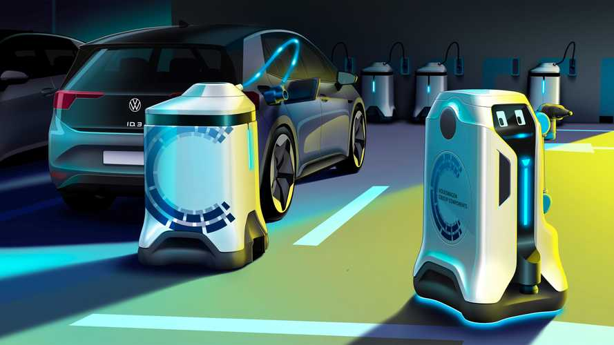 Robotokkal oldaná meg a Volkswagen a túlzsúfolt elektromos töltőállomások problémáját