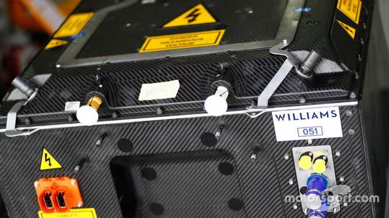 Williams battery at Valencia October 2017 testing