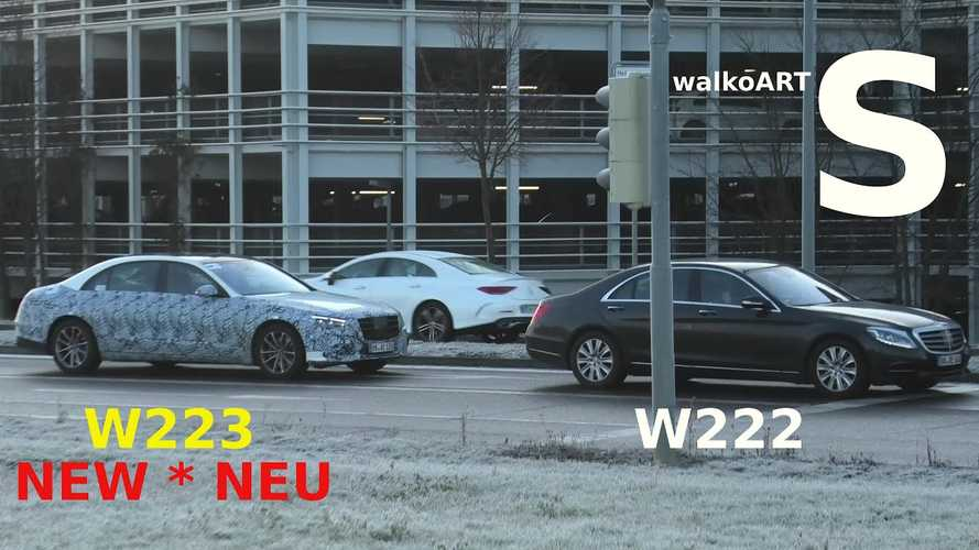 2021 Mercedes S-Class screenshot from spy video