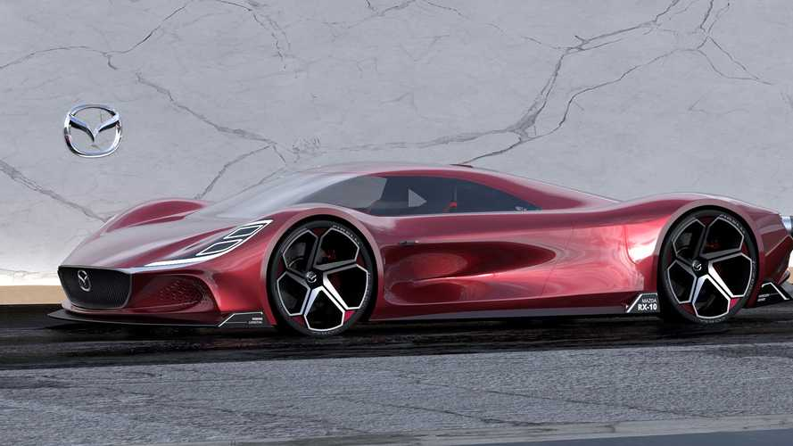 Designer imagines Mazda RX-10 Vision longtail supercar for Le Mans
