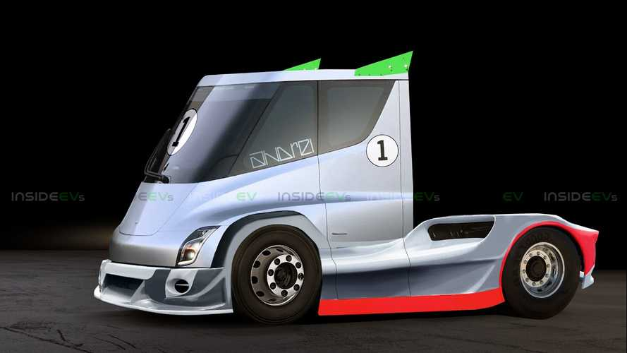Semi Trucks Like This Rendered Tesla Semi Could Make EV Racing Fun