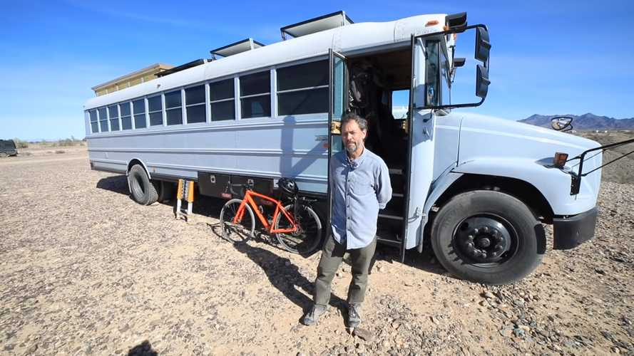 Old School Bus Gets New Life As Cozy RV With Room To Spare