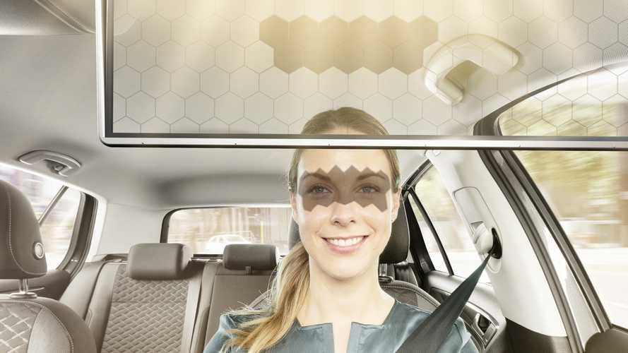 Bosch reinvents the sun visor with transparent LCD panel