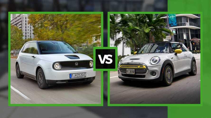 Honda e VS MINI Cooper SE - Petites, vintage et avec de la personnalité