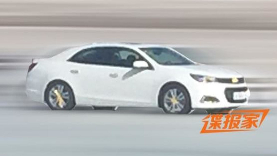 2016 Chevrolet Malibu spied without camo in China