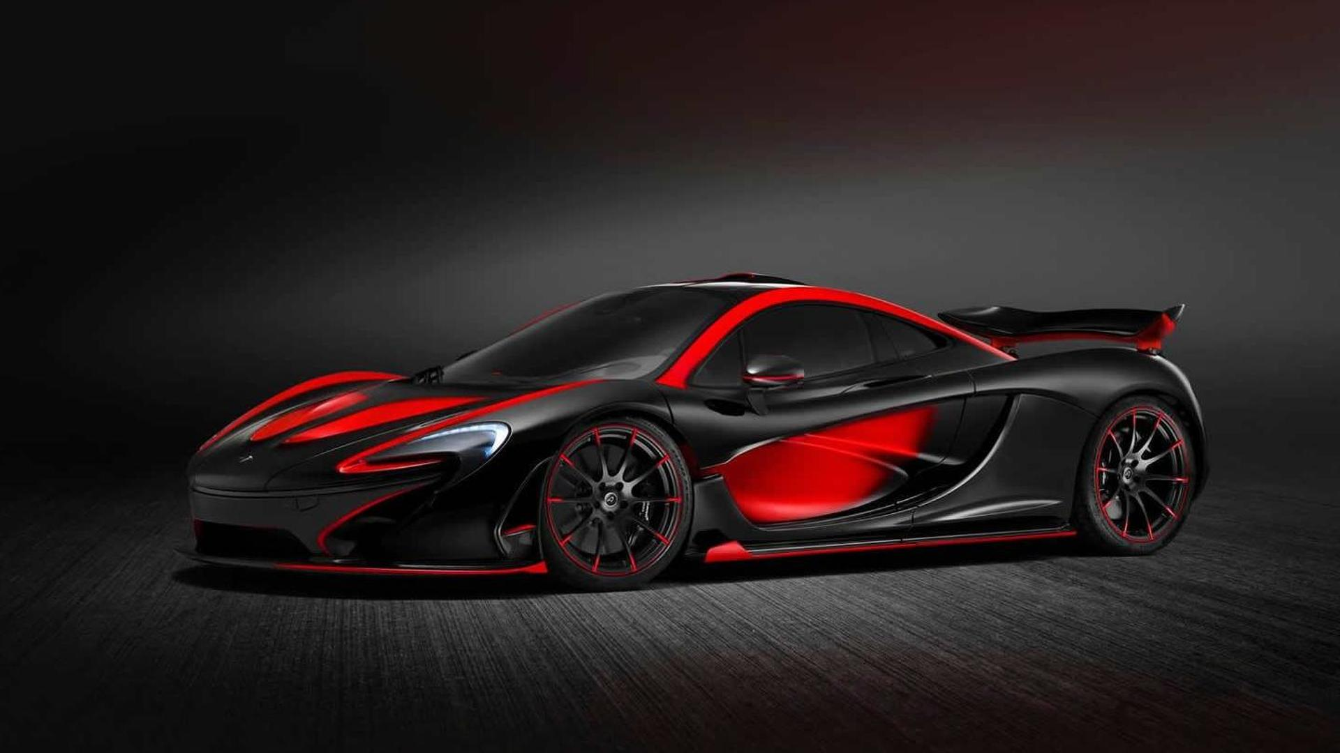 Black And Red >> Latest Mclaren P1 By Mso Looks Devilish With Black And Red Theme
