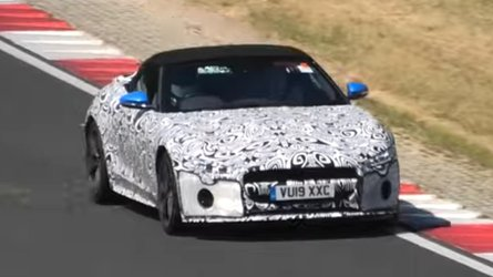 Facelifted Jaguar F-Type Spied On Video Screaming At The Nürburgring