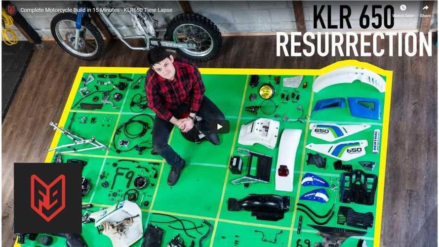 WOW: A Fifteen Minute Kawasaki KLR Rebuild