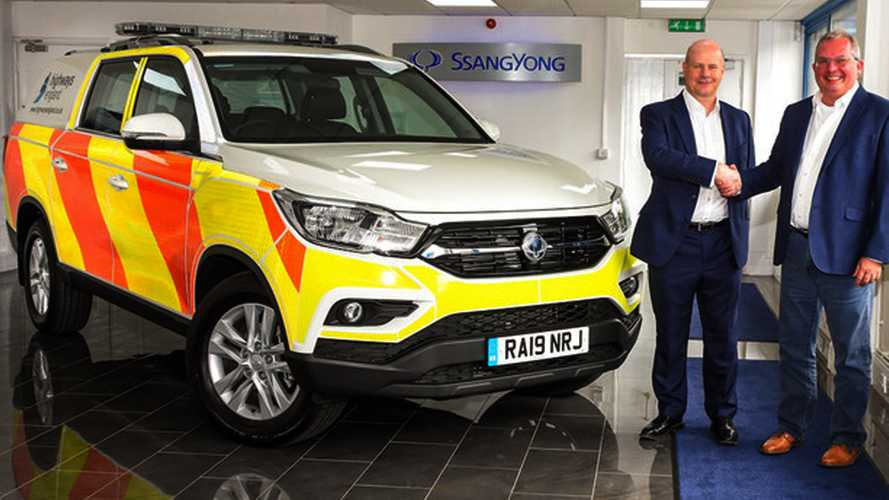 32 pick-up SsangYong alla Polizia inglese