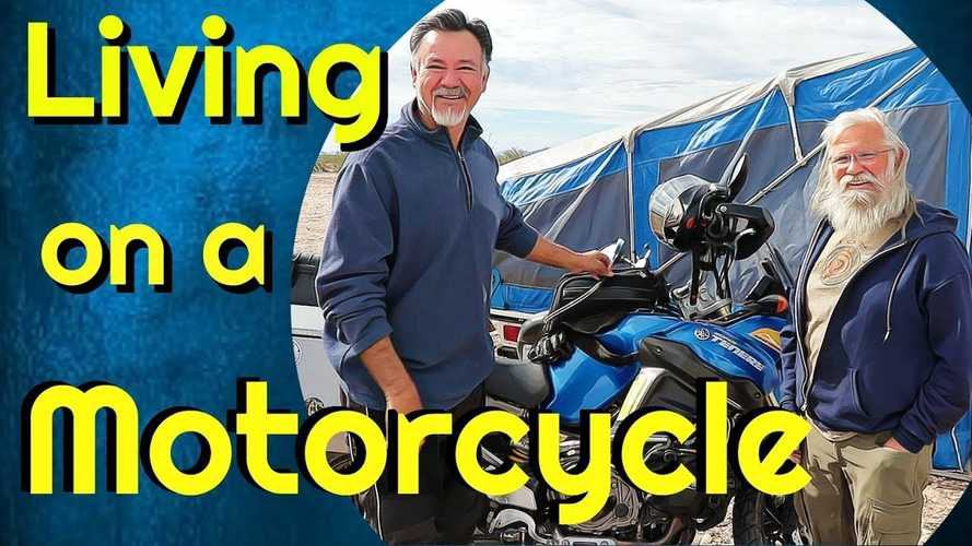 Living In A Motorcycle Pop-Up Trailer