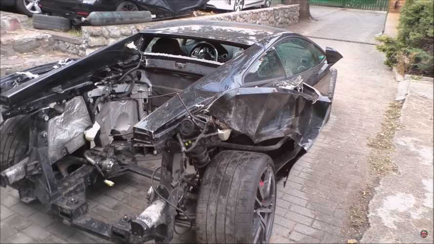Master mechanic begins mission to repair wrecked Lamborghini Gallardo