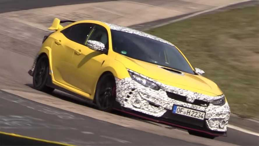 Updated Honda Civic Type R Spied In Action At The 'Ring
