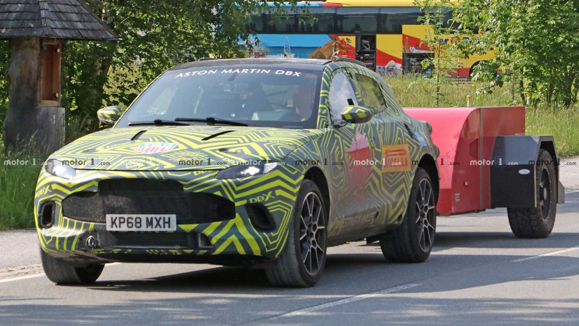 Aston Martin DBX SUV Concept: Design, Specs >> Aston Martin Dbx Caught Inside And Out While Towing