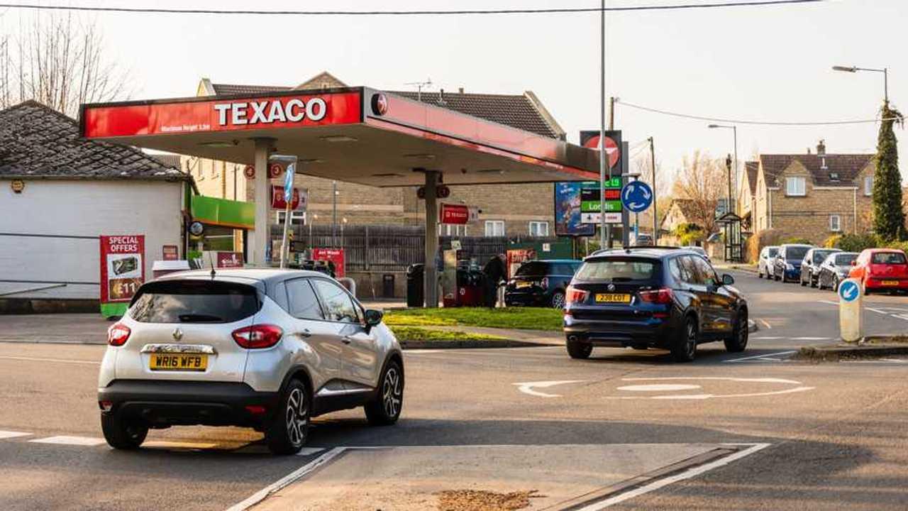 Texaco petrol station in Bradford on Avon UK